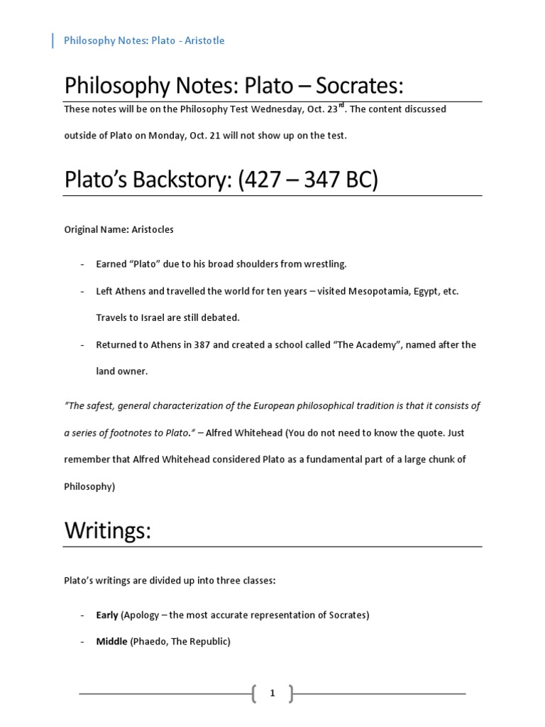 philosophy test notes