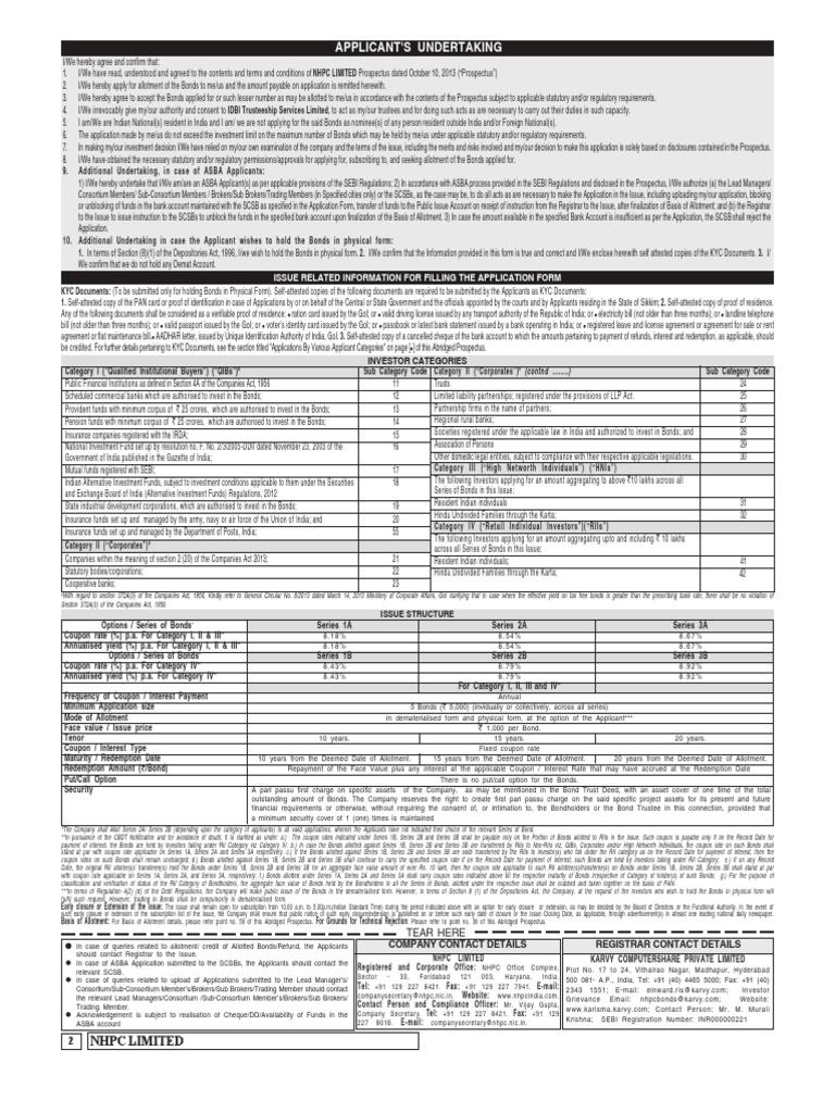NHPC_Application_Form_DetailsTNC pdf - DocShare tips