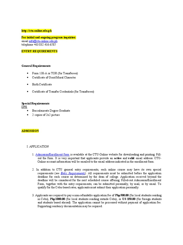 CTU Online Info - DocShare tips
