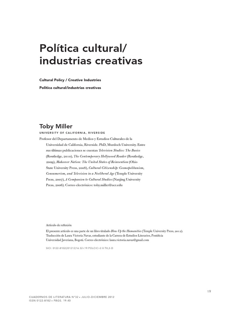 a companion to cultural studies miller toby