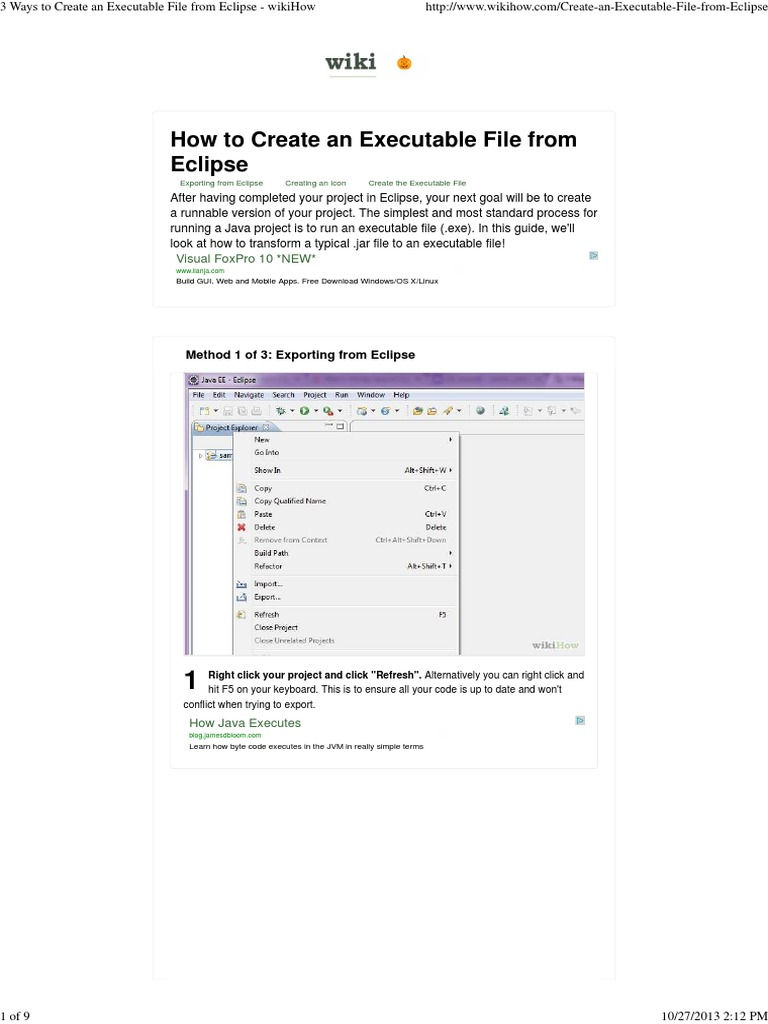 3 Ways To Create An Executable File From Eclipse Docshare How To Create An  App