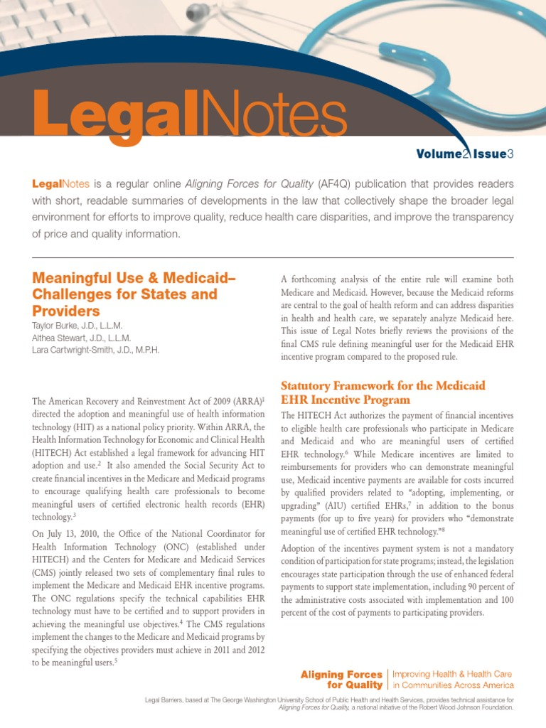 meaningful use policy brief Meaningful use stage 2: advanced clinical processes stage 2 meaningful use , which began in 2014, introduces new objectives and measures, as well as higher thresholds, requiring providers to extend ehr capabilities to a larger portion of their patient populations.