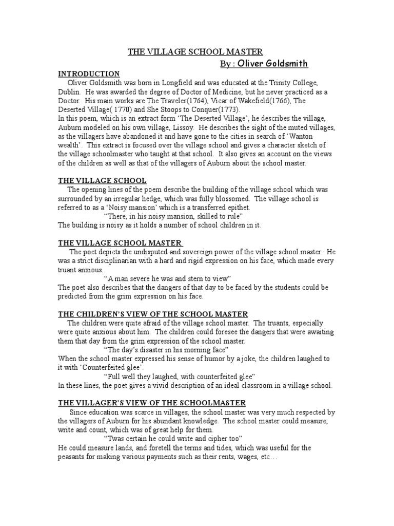 the village summary