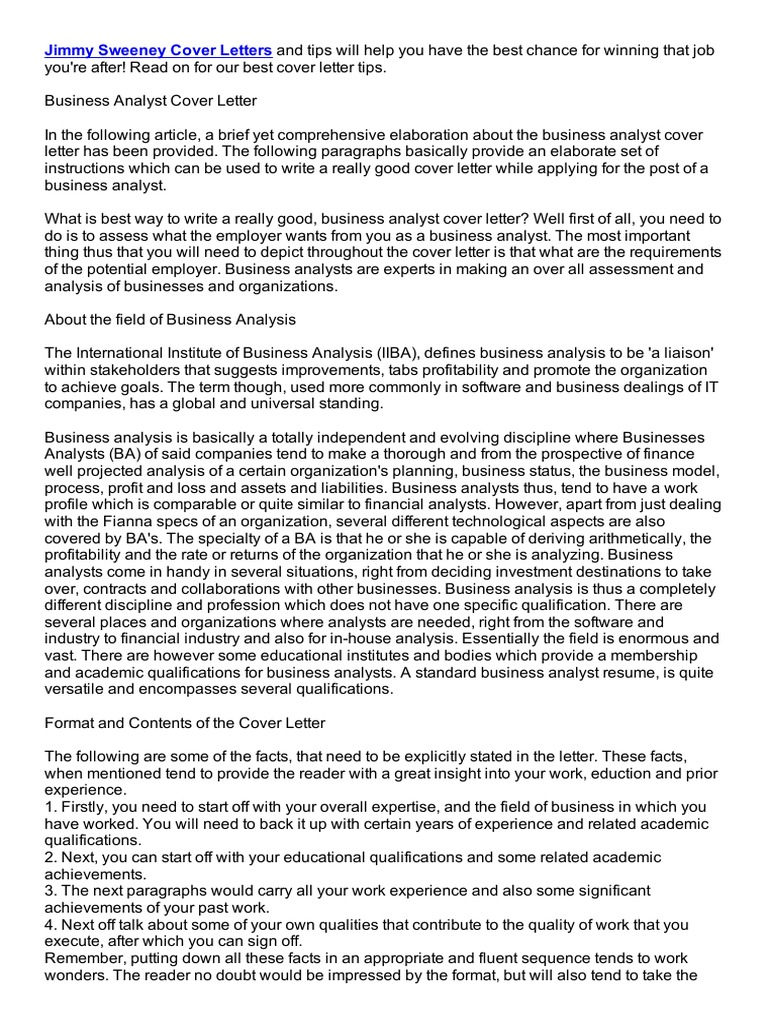 investment analyst cover letter