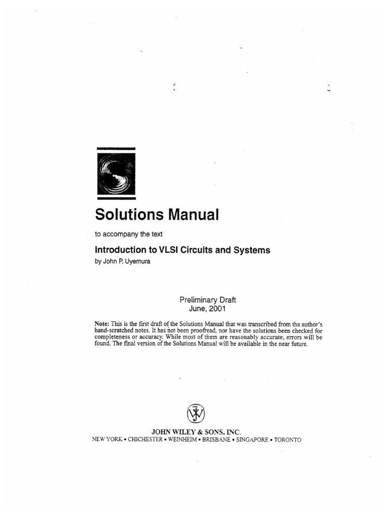 introduction to vlsi circuits and systems solution manual by john pintroduction to vlsi circuits and systems solution manual by john p uyemura pdf docshare tips