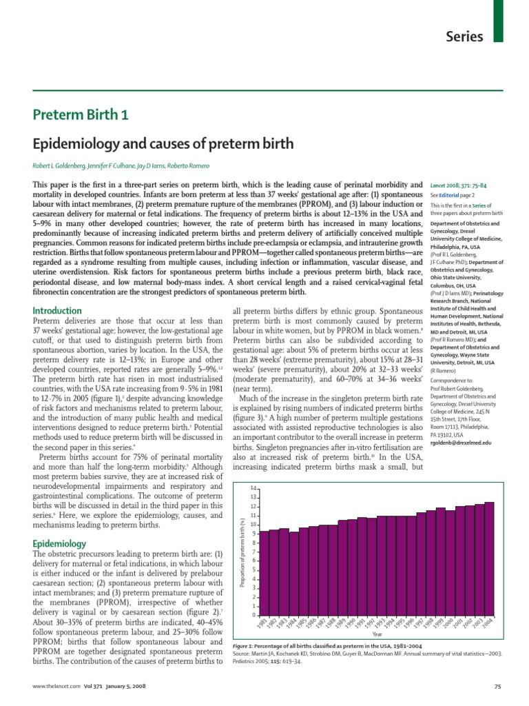conclusive results for premature caesarean births essay