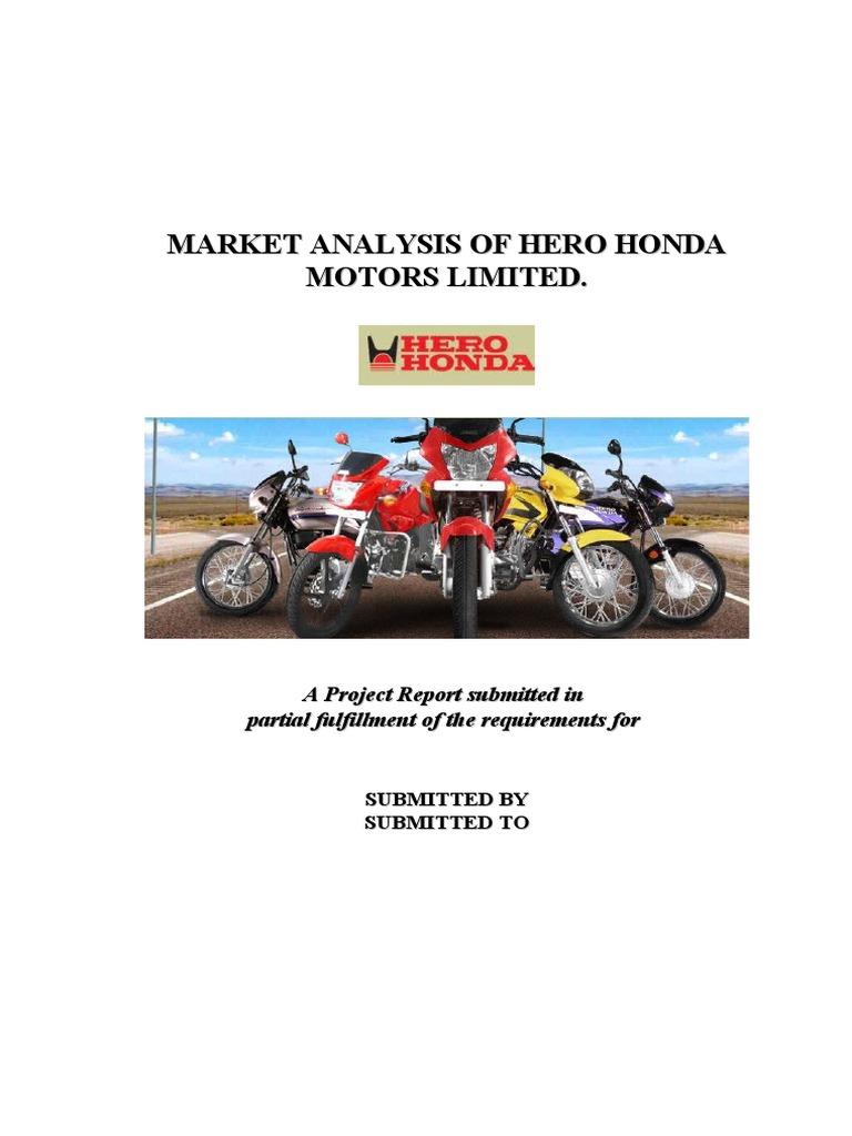 hero honda strategy report