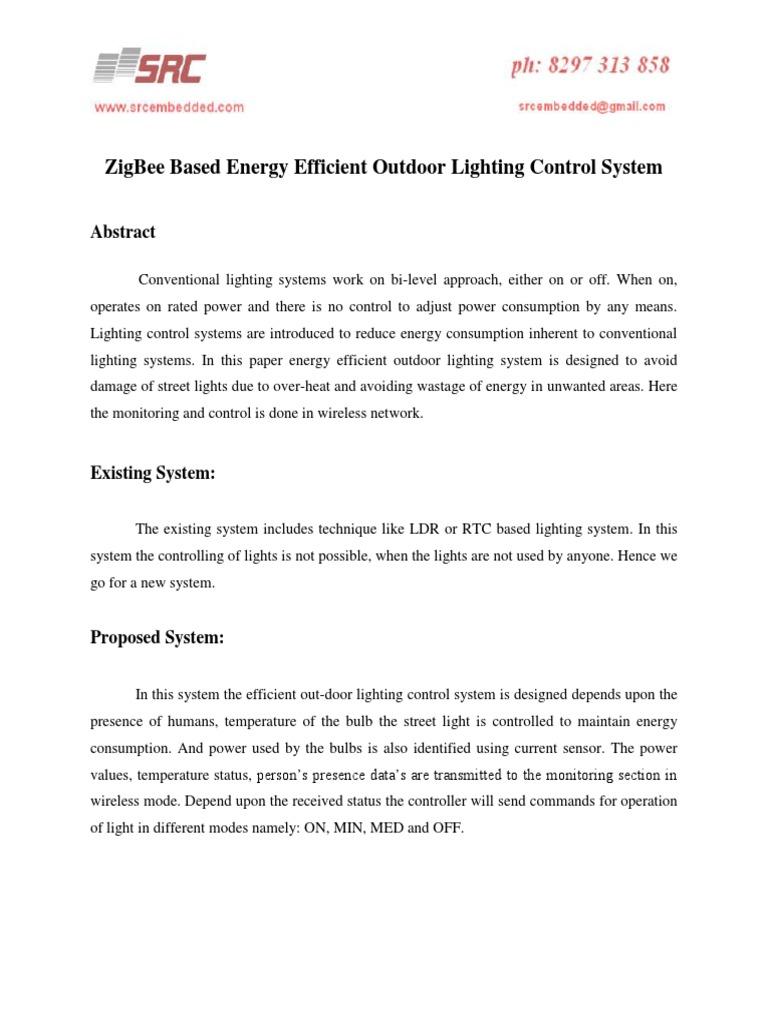 Zigbee based energy efficient outdoor lighting control systempdf zigbee based energy efficient outdoor lighting control systempdf docshare aloadofball Image collections