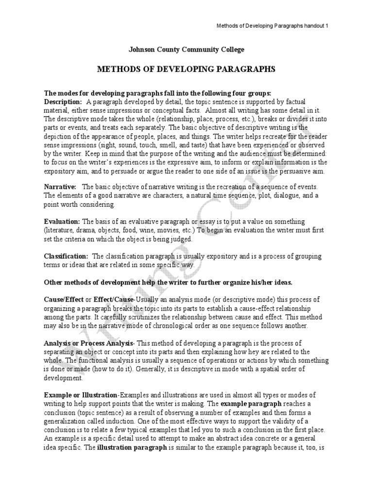classification paragraph