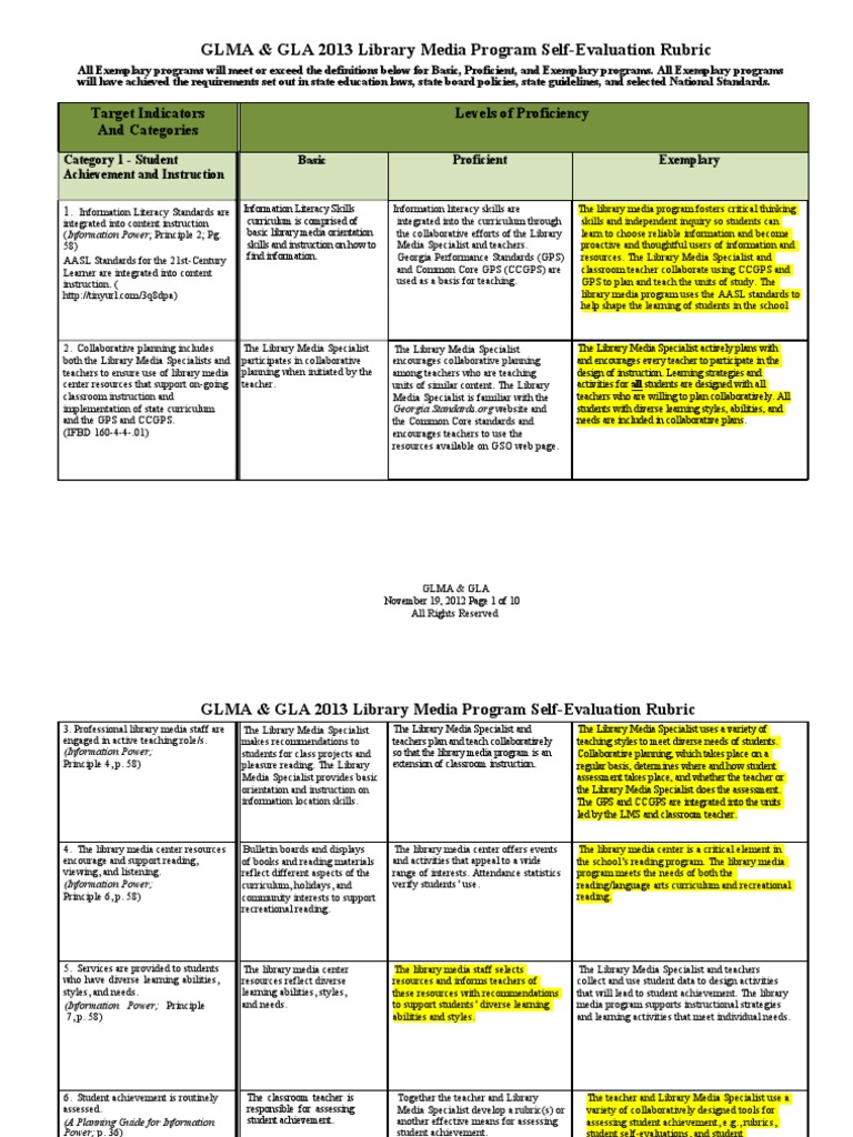 Media Specialists Lesson Plans