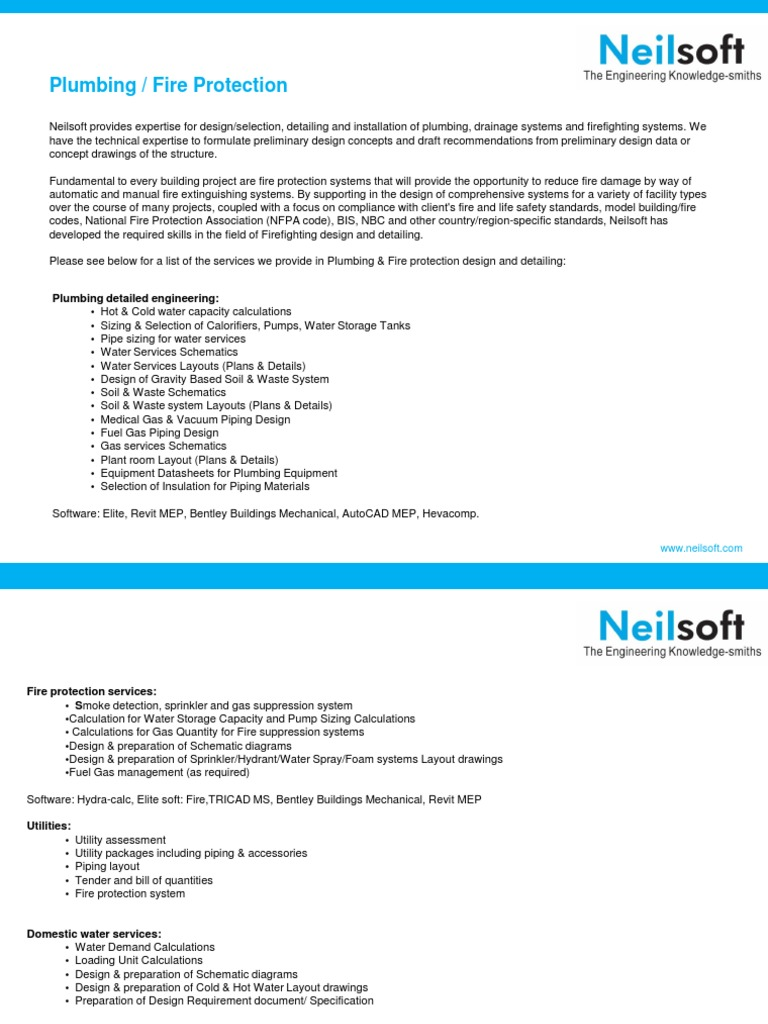 Plumbing And Fire Protection Design Detailed Engineering At Piping Layout Concepts Neilsoft