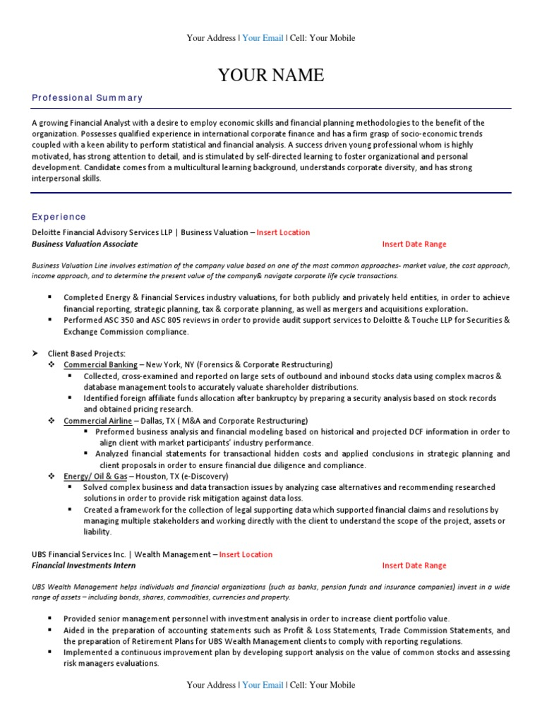 Download Resume Template - DocShare.tips