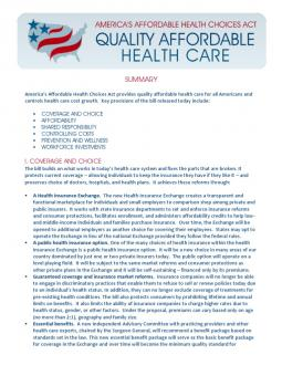 "an analysis of the affordable health choices act Analysis of senator ted cruz's ""health choice act of it repeals title 1 of the patient protection & affordable care act aka ""obamacare"" and all it's."