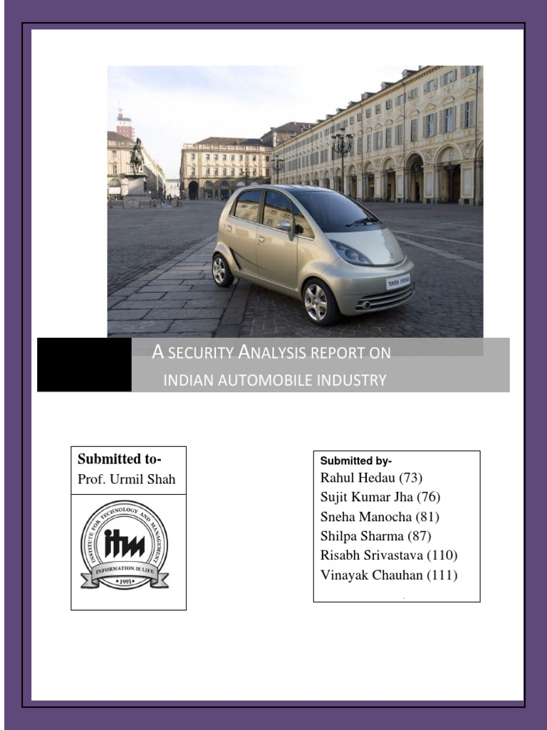 a detailed analysis of automobile sector In order to succeed in the chinese automobile the world's biggest automobile industry, manufacturers: general motors (gm), volkswagen(vw) and toyota (tmc) have to deal with completely different (political), geographic and economic cultural, administrative.