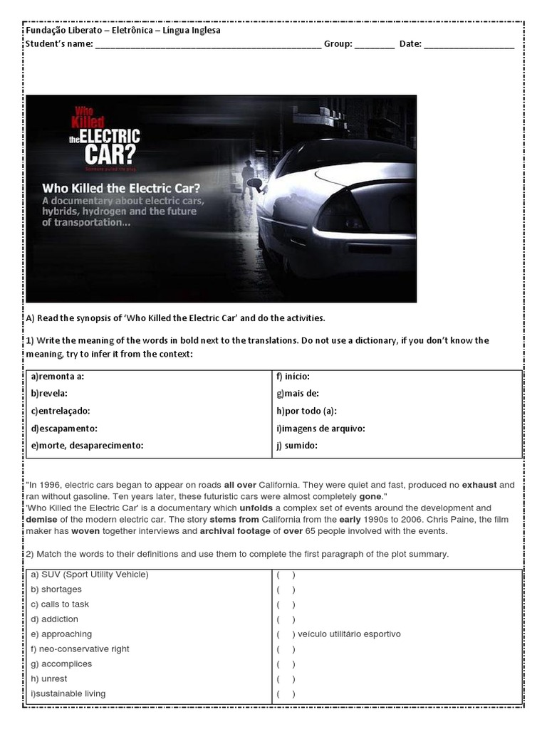 Download Who Killed the Electric Car Answered DocSharetips – Who Killed the Electric Car Worksheet