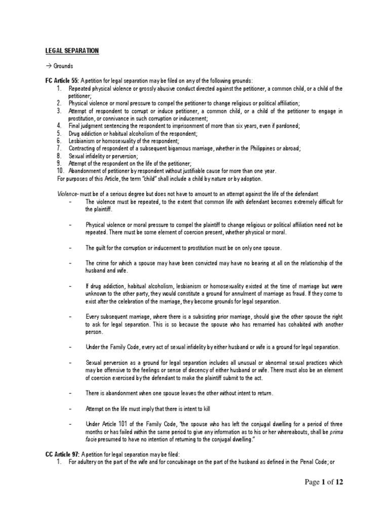 Binding Financial Separation Agreement Template By BK - mandegar.info