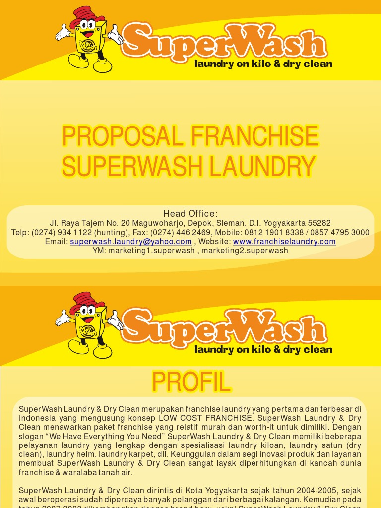 Download proposal laundry docshare proposal kerjasama bisnis franchise waralaba superwash laundry altavistaventures Gallery