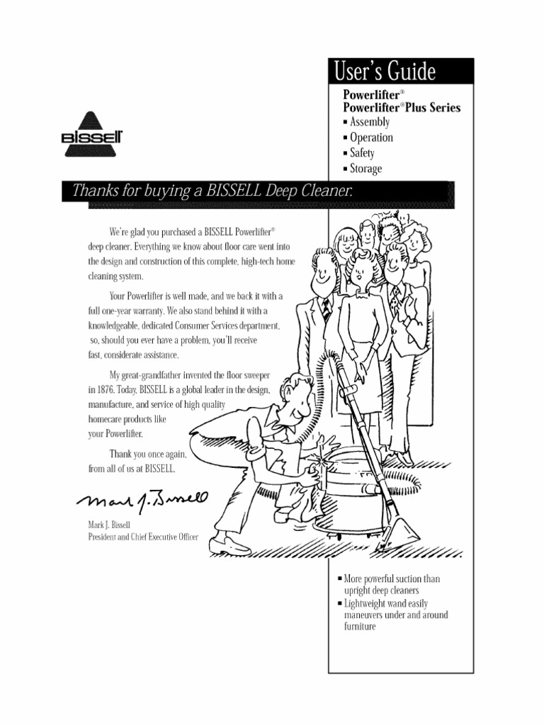 Download Bissell 1698 Carpet Cleaner Owners Manual Sweeper Diagram And Parts List For Carpetfloor L0905041