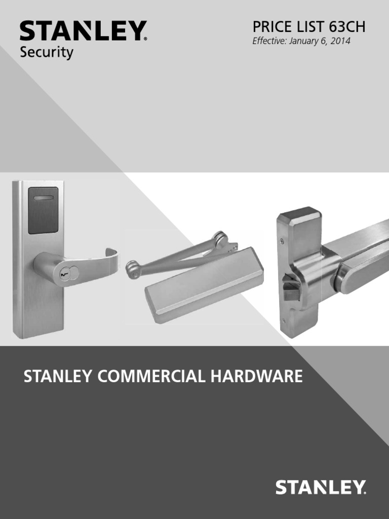 Push Side Painted Aluminum Finish Parallel Arm Stanley Black /& Decker 8Q00471-689 Stanley Commercial Hardware Drop Plate Kit for QDC100 Extra Heavy Duty Door Closer