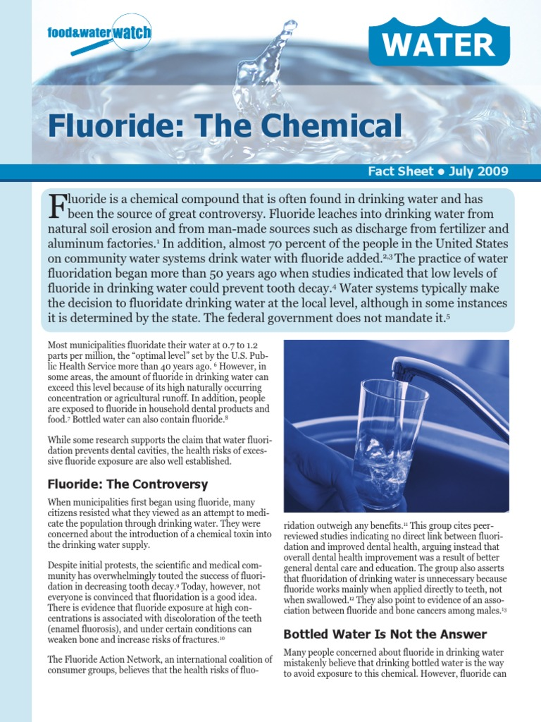 fluoridation of your drinking water