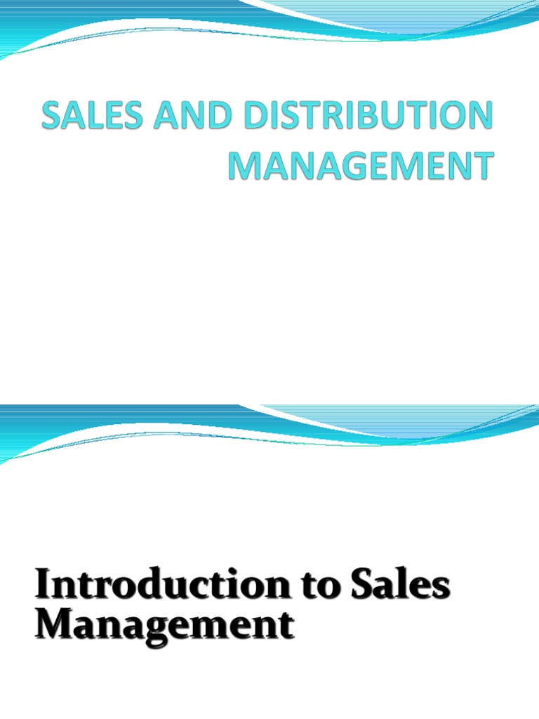 Sales and distribution mgt