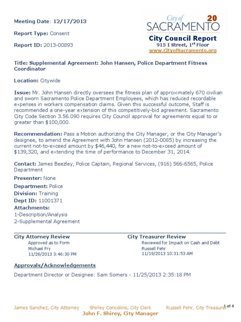 Download Item 20 Supplemental Agreement John Hansen Police