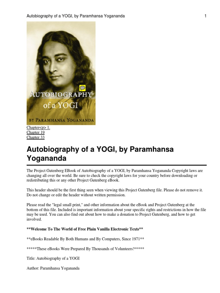 Download the auto biography of a yogi docshare fandeluxe Images