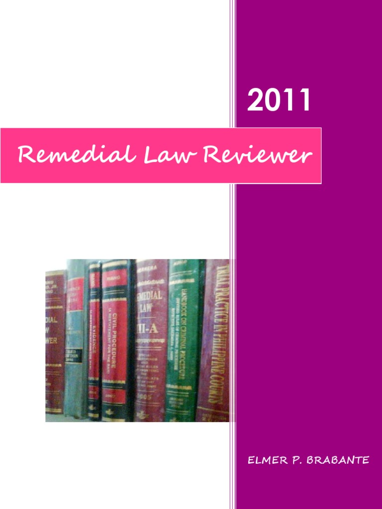remedial law reviewer inigo notes