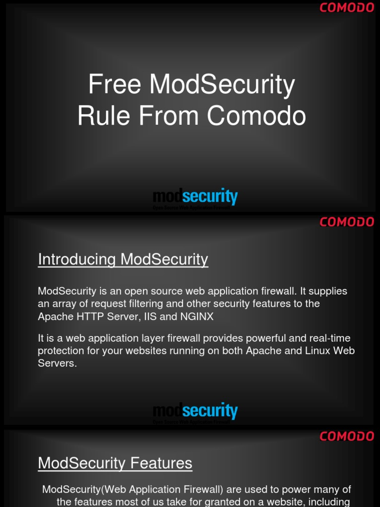 Free ModSecurity Rule From Comodo - DocShare tips