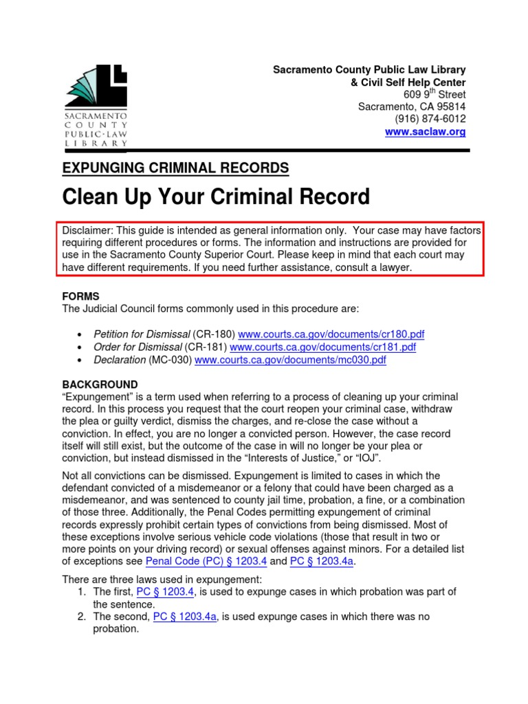 Expunging Criminal Records - DocShare.tips