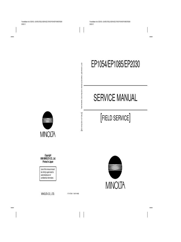 MINOLTA EP1085 Field Service Manual.pdf