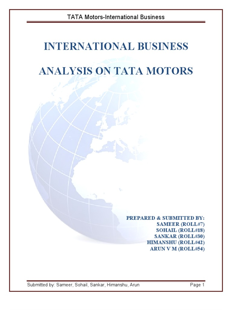 tata motors a business strategy report marketing essay The decision of using tata motors was taken on the basis of its indigenous efforts to promote automotive industry despite being a company of a developing nation and its consistent financial performance over last many years.