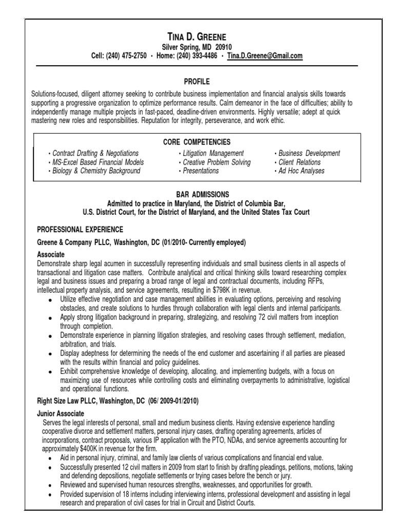 qc senior compliance attorney in washington dc resume tina