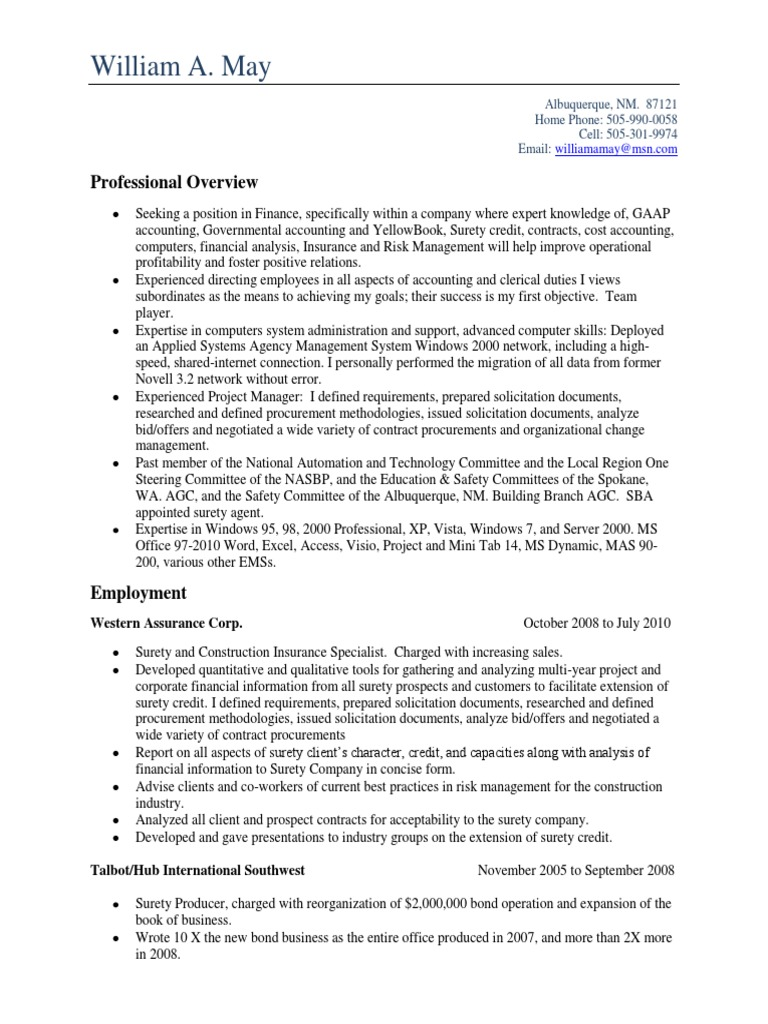 Luxury Albuquerque Accounting Resume Frieze - Administrative Officer ...