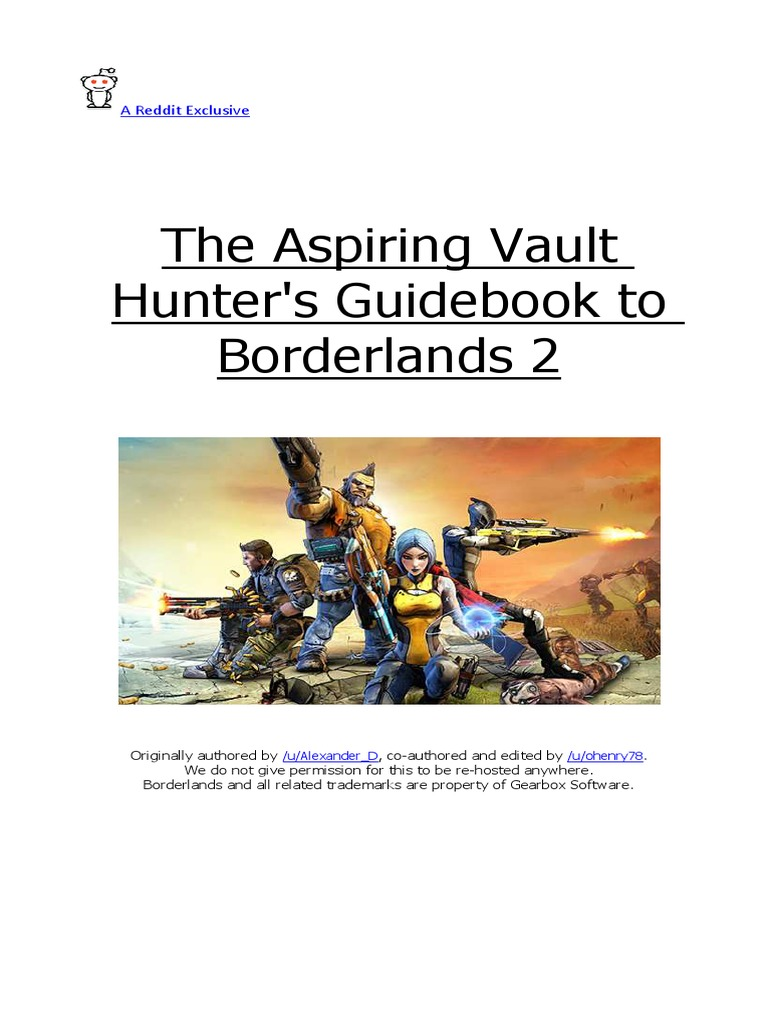The Aspiring Vault Hunters Guidebook to BL2 - DocShare tips