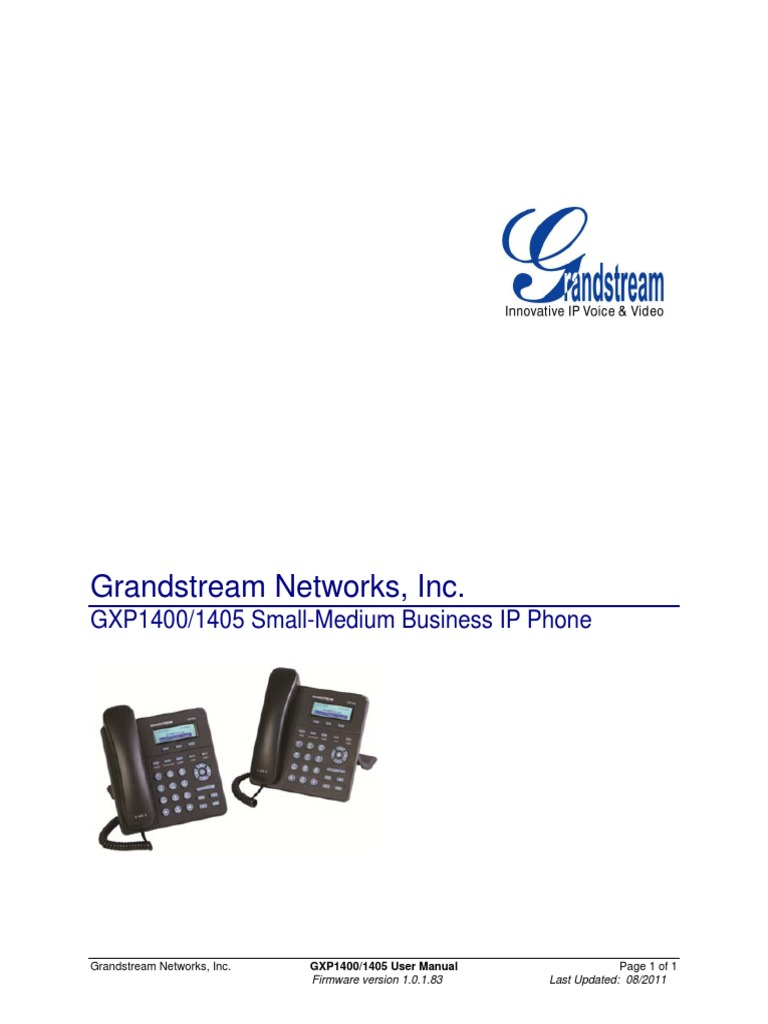 Grandstream Networks Gxp1400 - DocShare tips