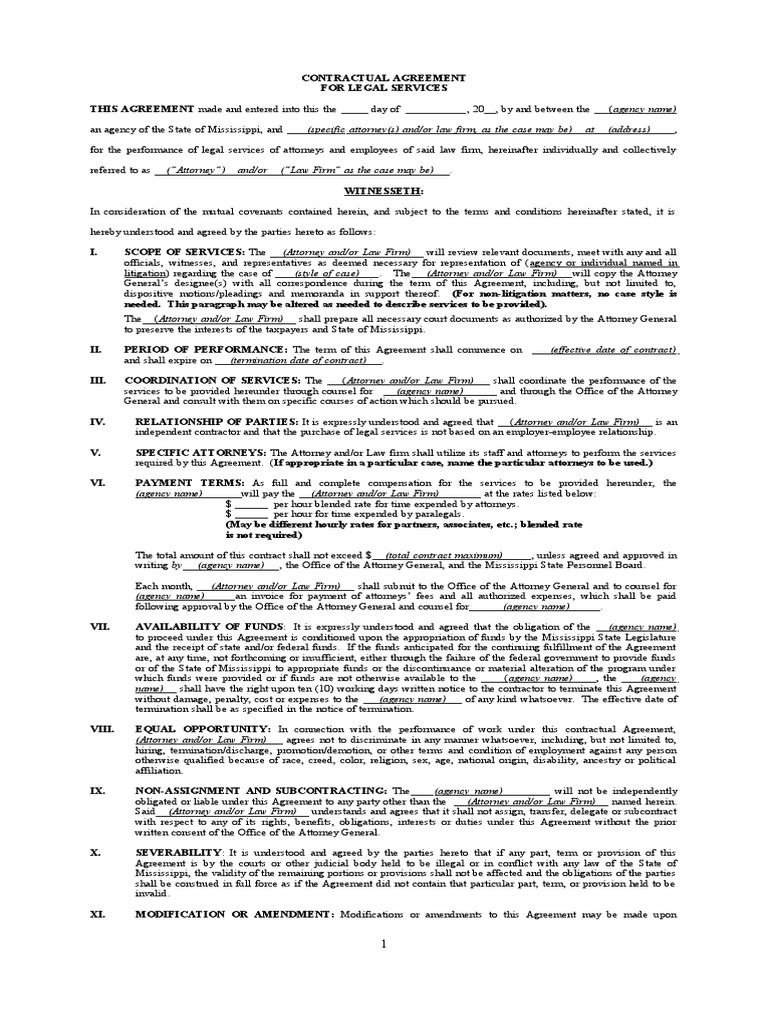 Download Legal Services Contract Template Docshare