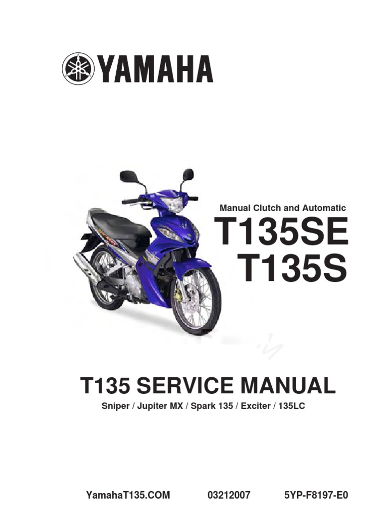 Yamaha T135 Service Manual Complete