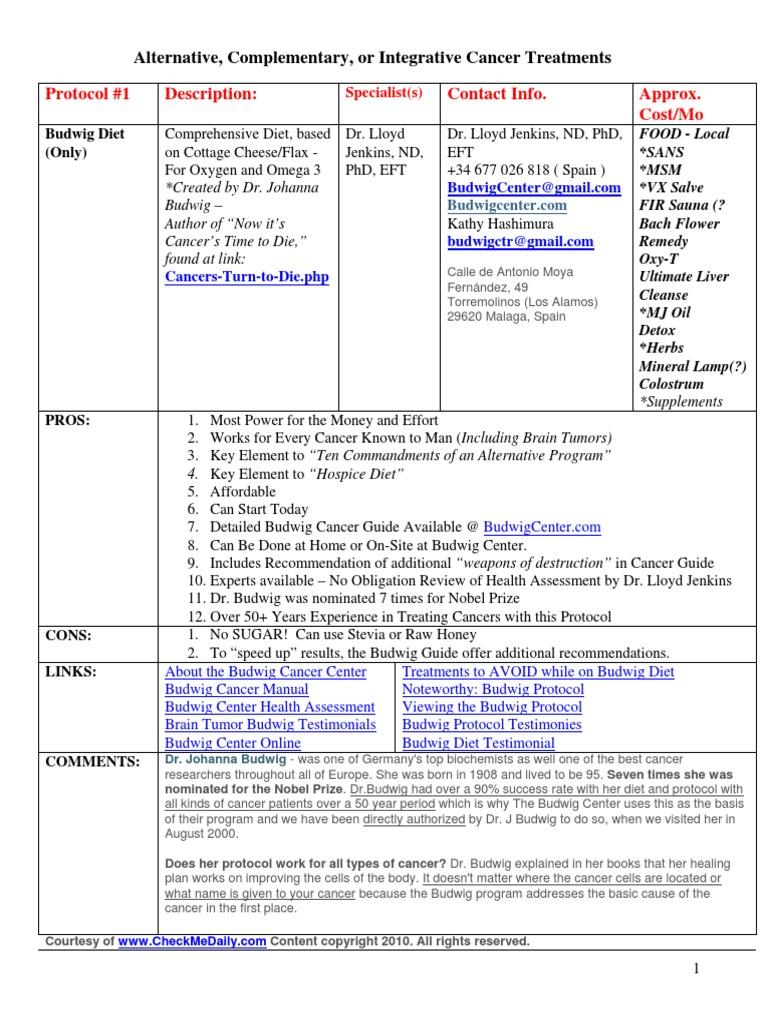 Alternative Cancer Treatments and Testimonials 2012 - DocShare tips