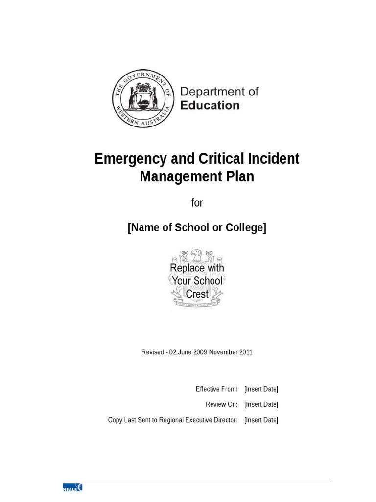 critical incident plan