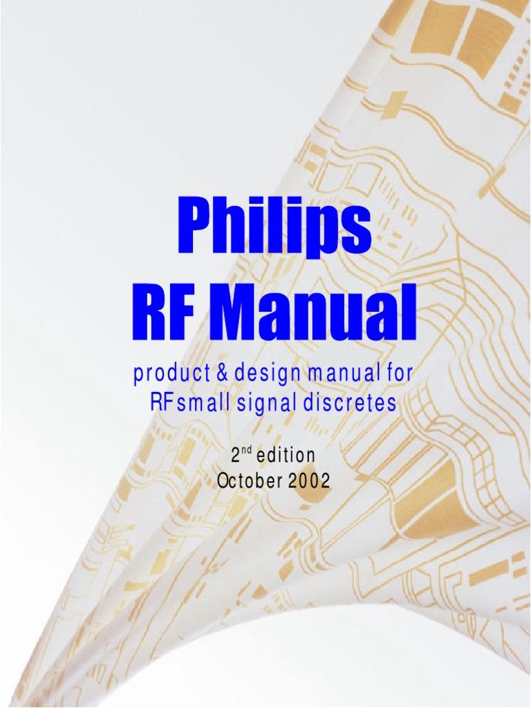 Philips Rf Manualpdf Advanced Electronic Circuits Tietze Pdf
