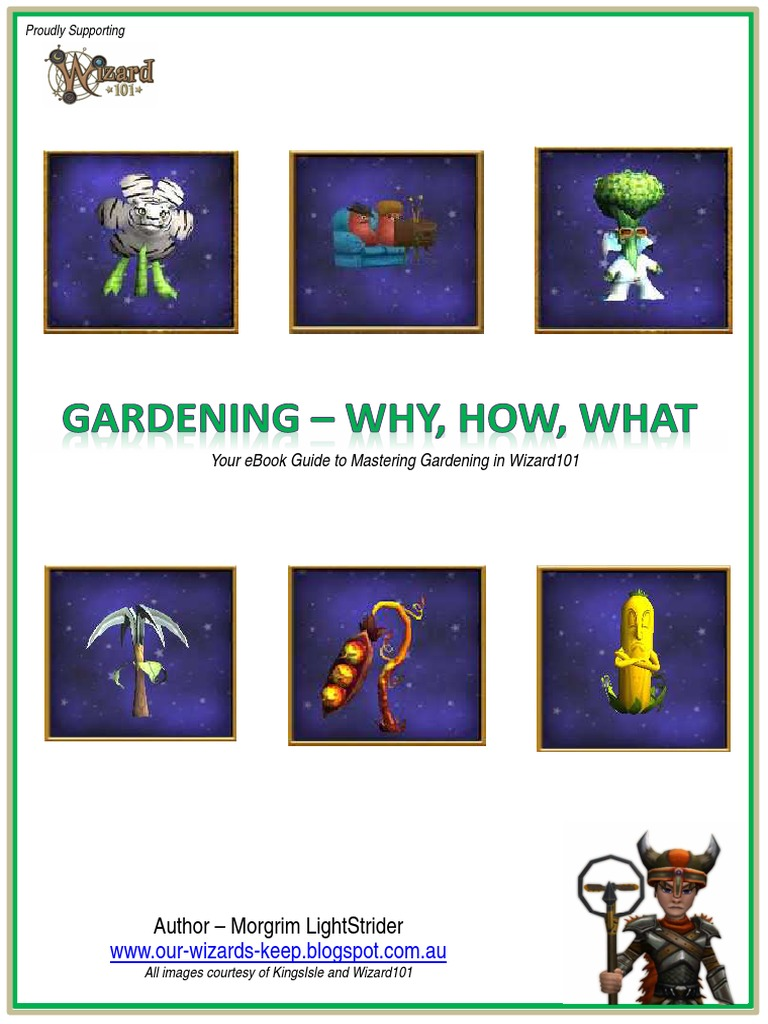 Wizard 101 - Mastering Gardening in the Spiral - DocShare tips