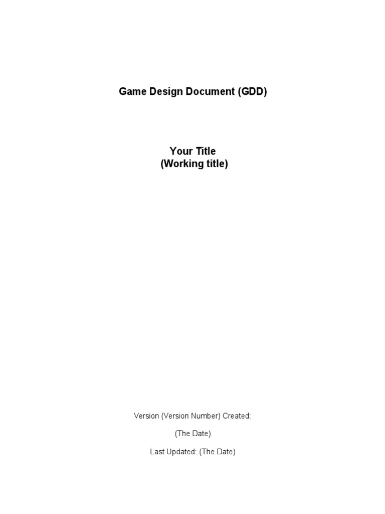 Download Game Design Document DocSharetips - Game design document download