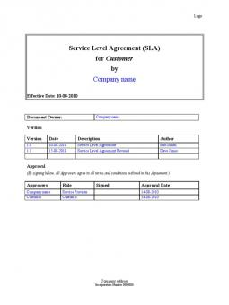 Service level agreement sla sample template search results service level agreement template pronofoot35fo Image collections