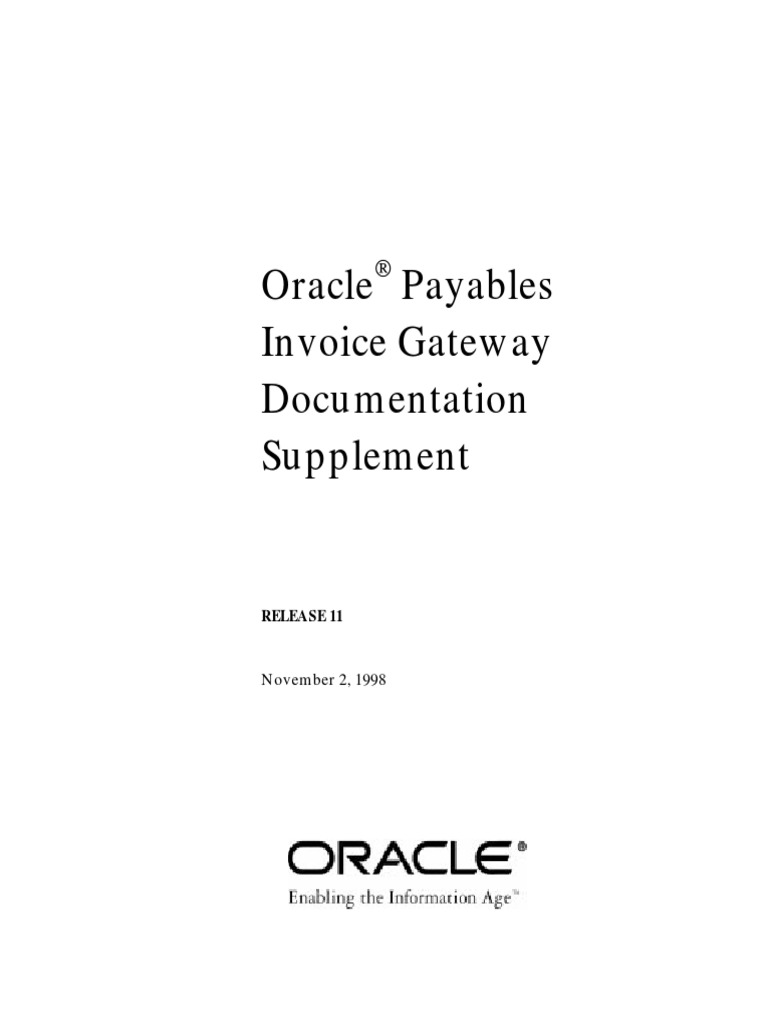 Oracle Payables Invoice Gateway Documentation Suplement DocSharetips - Invoice gateway
