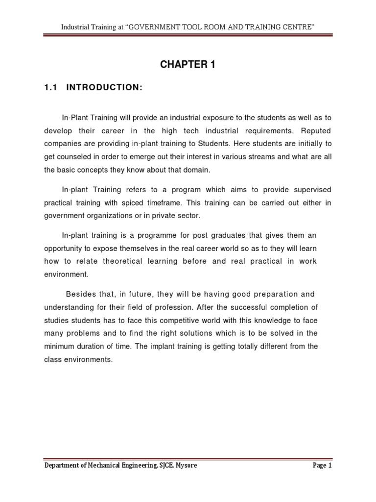 Internship at GTTC, Mysore - DocShare tips