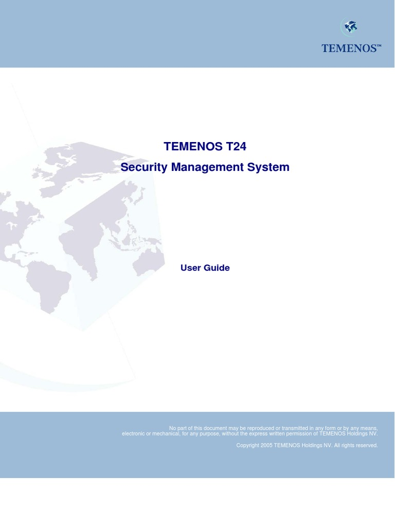 Download T24 Security Management System - User Guide