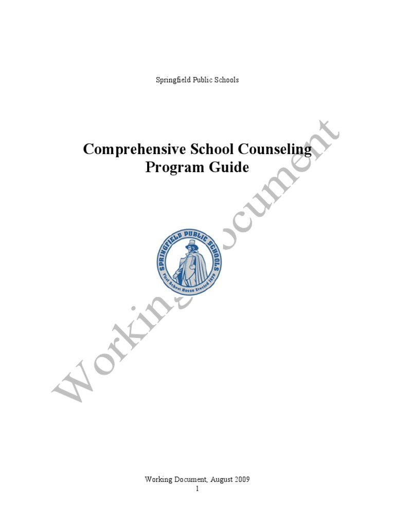 comprehensive school counseling program Counseling services without parent permission because the comprehensive school counseling program is a required school component as per wvbe policy 2510 therefore, school.