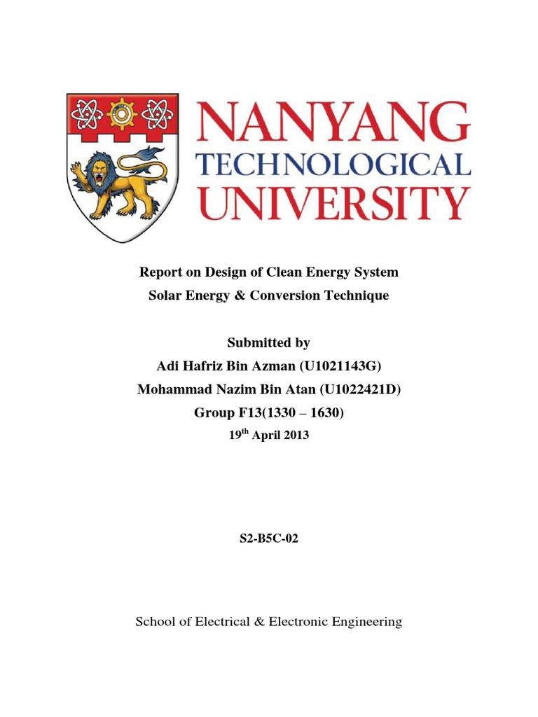Nanyang Business School – Sample MBA Essay