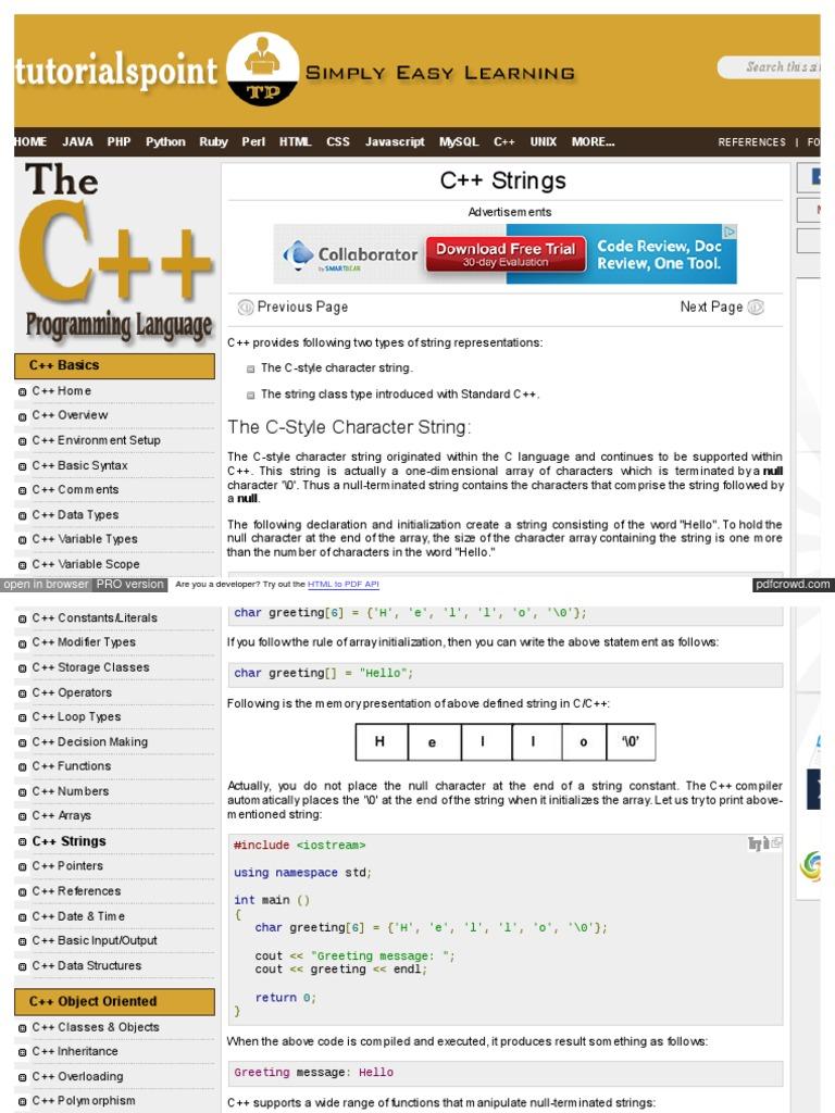 Download www botanical online com regaliz contraindicaciones htm www tutorialspoint com cplusplus cpp strings htm baditri Choice Image